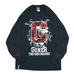 画像1: GoneR(ゴナー) G ROSE L/S T-SHIRTS / -BLK- (1)