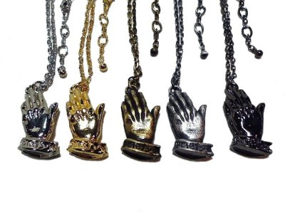 画像2: Subciety(サブサエティ)ネックレス/ PRAYING HAND NECKLACE