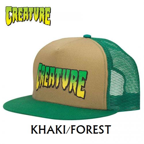 画像1: 【SALE!!!】CREATURE(クリーチャー) LOGO MESH CAP KHAKI/FOREST (1)