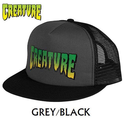 画像1: 【SALE!!!】CREATURE(クリーチャー) LOGO MESH CAP GREY/BLACK (1)