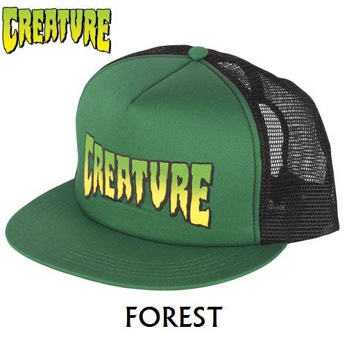 画像1: 【SALE!!!】CREATURE(クリーチャー) LOGO MESH CAP FOREST/BLACK (1)