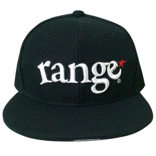 画像1: range(レンジ)ツバ裏プリント/ORIGINAL SNAPBACK CAP -BLK/WHT- (1)