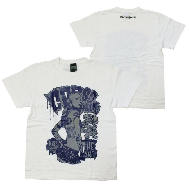 画像1: CROSSHEARTS(クロスハーツ)Tシャツ/KISS MY ASS TEE (1)