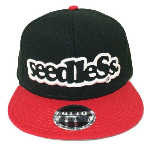 画像1: seedleSs(シードレス)COMBINATION SNAPBACK CAP-RED/BLACK- (1)
