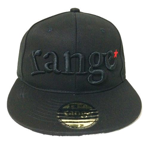 画像1: range(レンジ)ツバ裏プリント/ORIGINAL SNAPBACK CAP -BLK/BLK- (1)