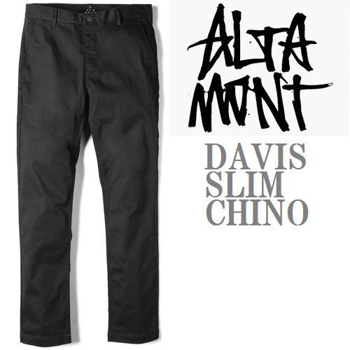 画像1: ALTAMONT(オルタモント)スリムチノ/DAVIS SLIM CHINO-BLACK- (1)