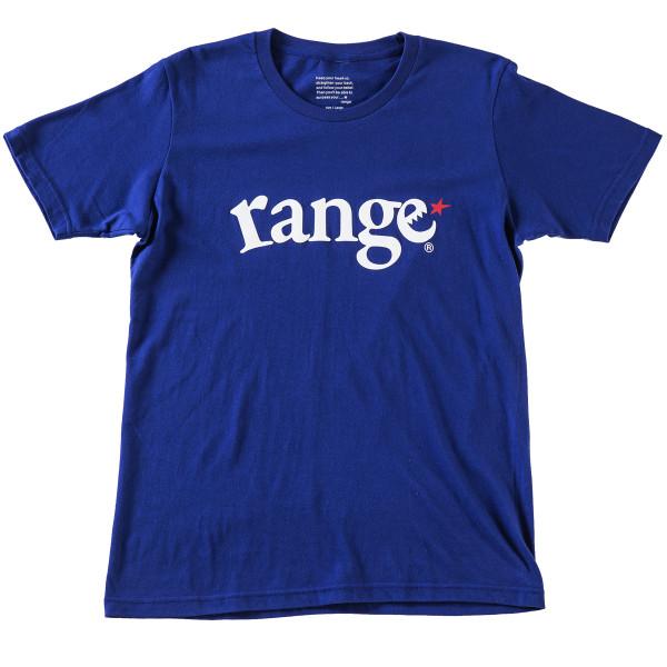 画像1: range(レンジ)定番ロゴ/ LOGO S/S TEE (N.BLUE) (1)