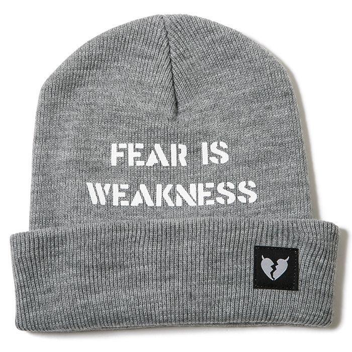 画像1: 【メール便対応】 Deviluse(デビルユース)FEAR BEANIE -GRAY- (1)