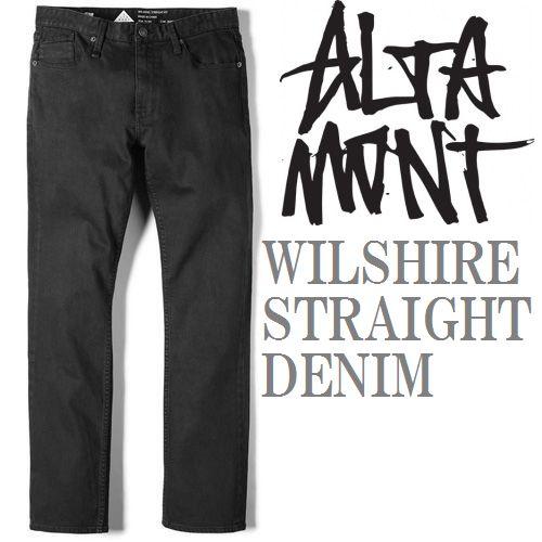 画像1: ALTAMONT(オルタモント)WILSHIRE STRAIGHT DENIM -OD BLACK- (1)