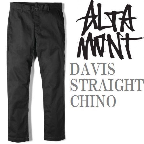 画像1: ALTAMONT(オルタモント)スリムチノ/DAVIS STRAIGHT CHINO-BLACK- (1)