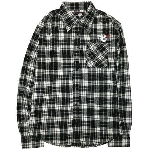 画像1: range(レンジ) ネルシャツ/ORIGINAL NEL SHIRTS -BLK/WHT- (1)