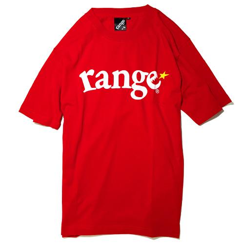 画像1: range(レンジ)LOGO S/S TEE -RED- (1)