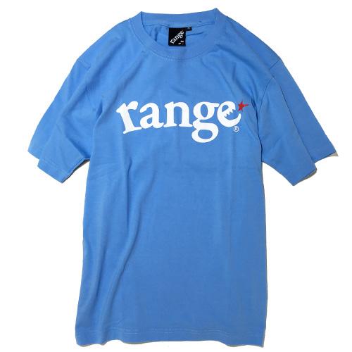 画像1: range(レンジ)LOGO S/S TEE -SAX BLUE- (1)