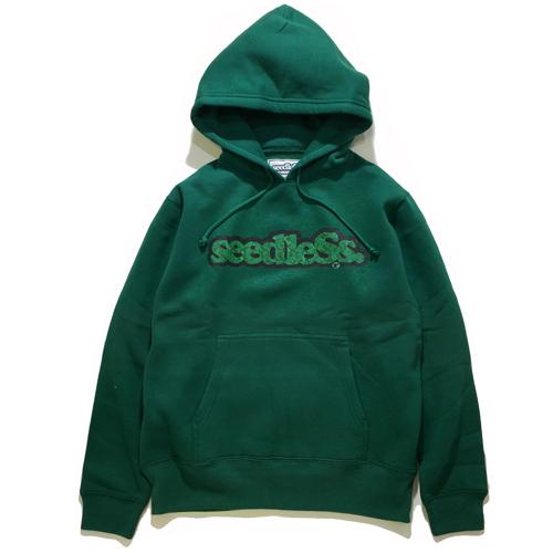 画像1: seedleSs(シードレス)SD GREEN CAMO LOGO HOODY/ -GREEN- (1)