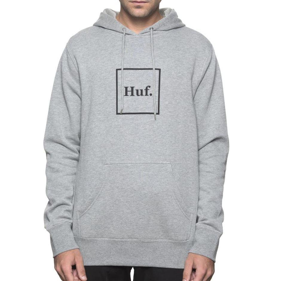 画像1: HUF(ハフ) BOX LOGO P/O HOODIE -GREY- (1)