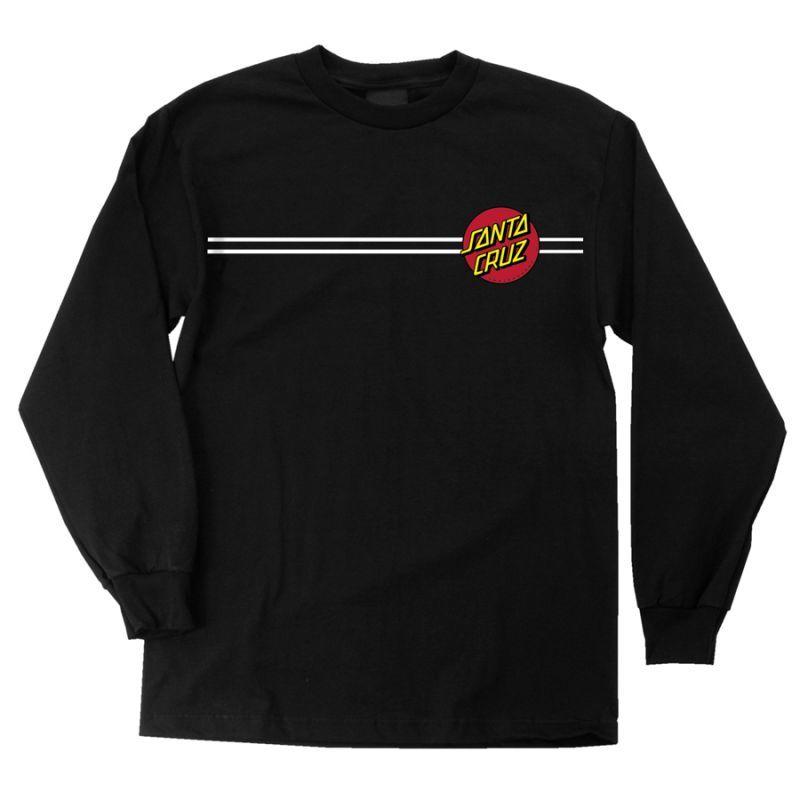 画像1: SANTA CRUZ (サンタクルーズ)ロングスリーブTシャツ/CLASSIC DOT L/S -BLK- (1)