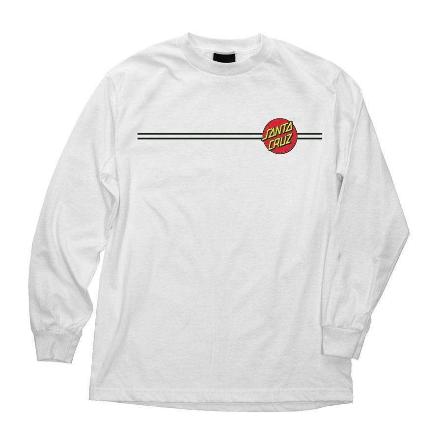 画像1: SANTA CRUZ (サンタクルーズ)ロングスリーブTシャツ/CLASSIC DOT L/S -WHT- (1)