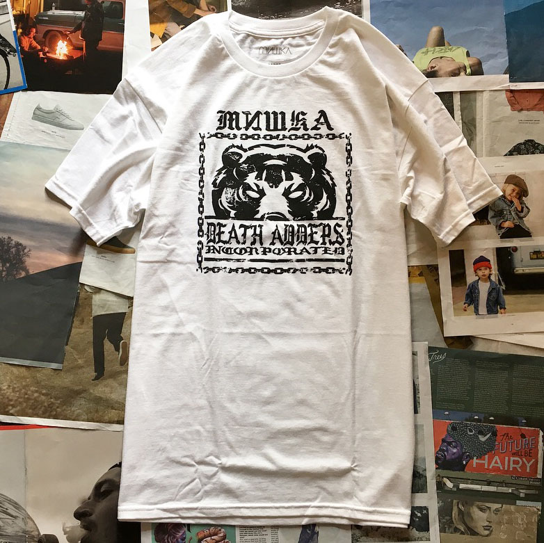 画像1: MISHKA(ミシカ)DEATH ADDER TEE / -WHT- (1)