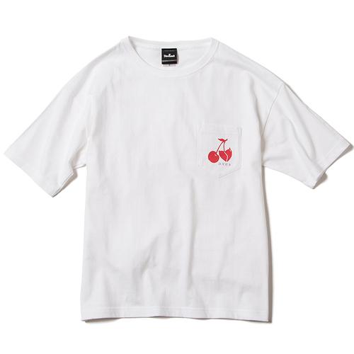 画像1: Deviluse (デビルユース) Woman Cherry pocket T-shirts /-WHT- (1)