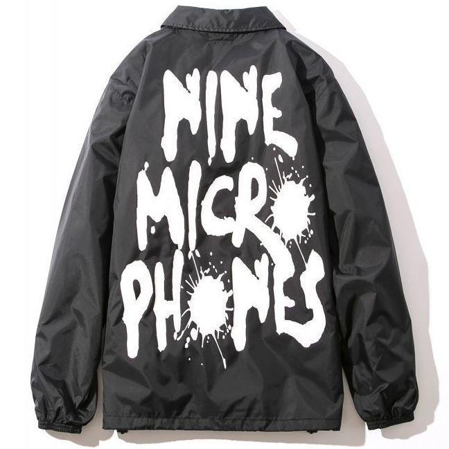 画像1: NINE MICROPHONES(ナインマイクロフォンズ)COACH JACKET-FAINT- (1)