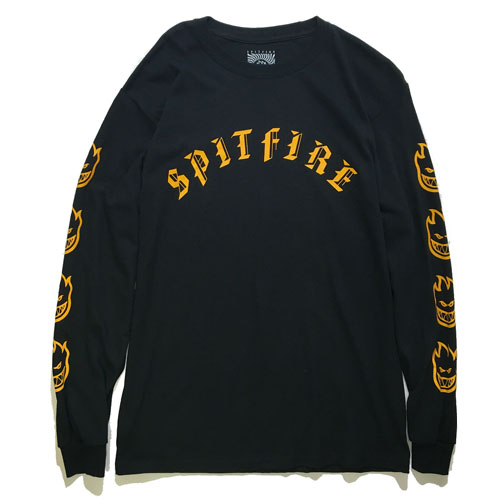 画像1: SPITFIRE (スピットファイア) OLD ENGLISH LOGO L/S TEE / -BLK- (1)