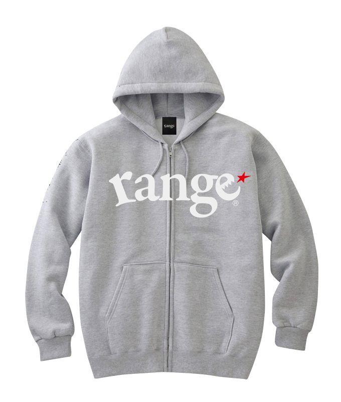 画像1: range(レンジ)LOGO SWEAT ZIP HOODY -H.GRY- (1)