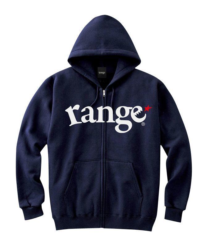 画像1: range(レンジ)LOGO SWEAT ZIP HOODY (1)