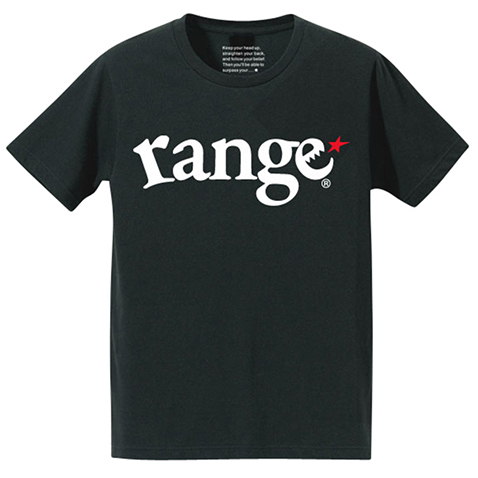画像1: range(レンジ)厚手生地/super heavy weight 10.2oz t shirts -BLK- (1)