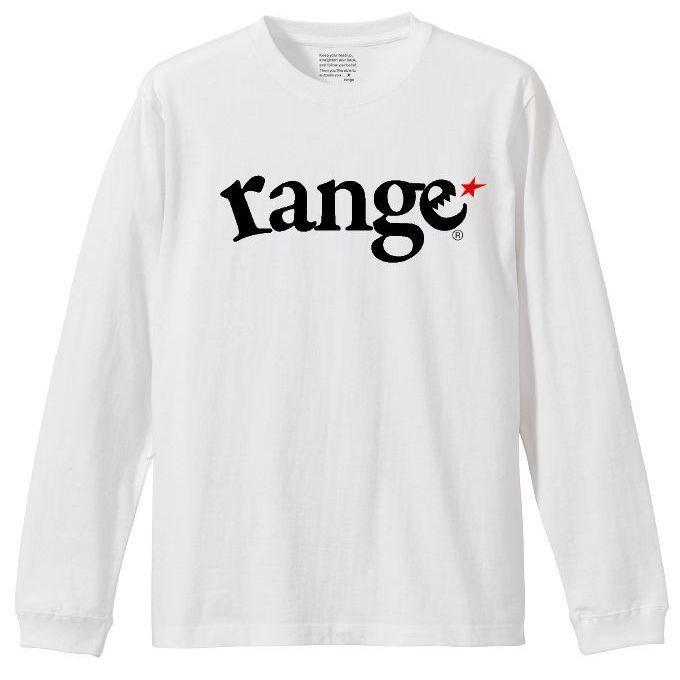 画像1: range(レンジ)定番ロゴ/長袖/ LOGO L/S TEE(WHT) (1)