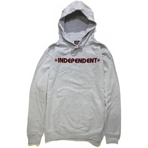 画像1: INDEPENDENT(インディペンデント)  BAR/CROSS PULLOVER HOODED /-GRY- (1)