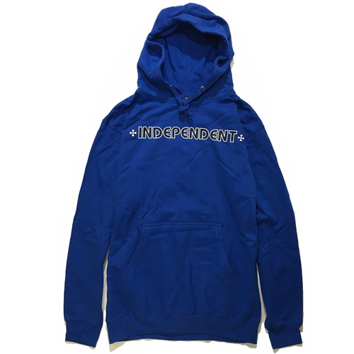 画像1: INDEPENDENT(インディペンデント)  BAR/CROSS PULLOVER HOODED /-BLU- (1)
