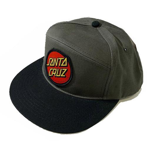 画像1: SANTA CRUZ(サンタクルズ)DOT SNAPBACK HAT -CHA/BLK- (1)