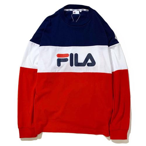 画像1: FILA(フィラ) GRAPHIC L/S-SHIRTS / -RED- (1)
