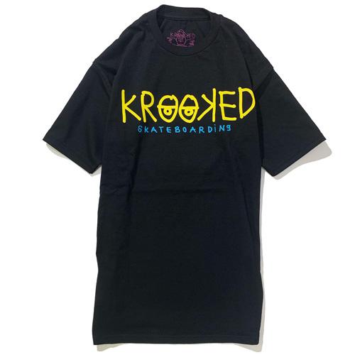 画像1: KROOKED(クルキッド)KRKD EYES S/S TEE / -BLK- (1)