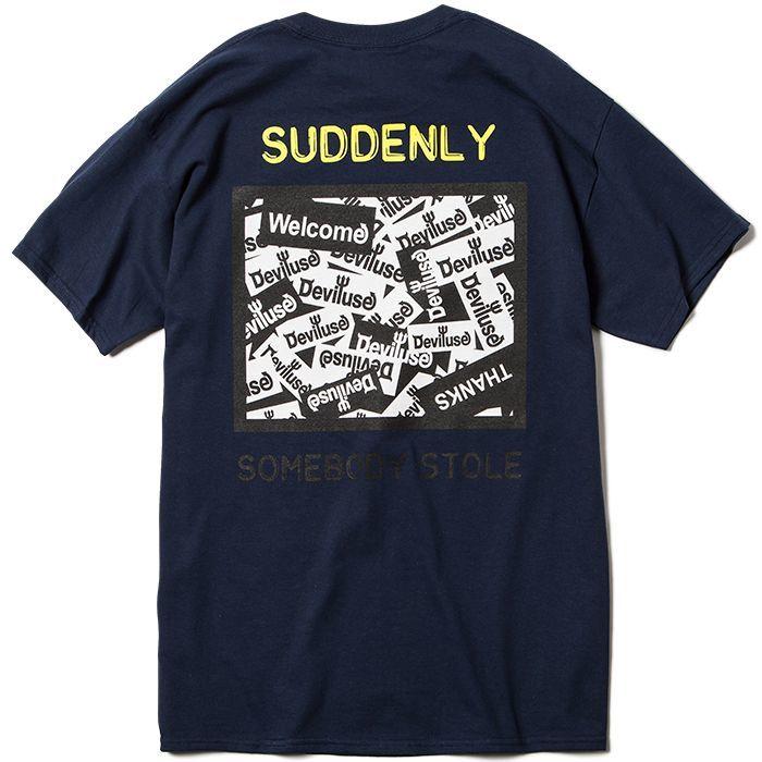 画像1: Deviluse (デビルユース) CCTV T-shirts /-NAVY- (1)