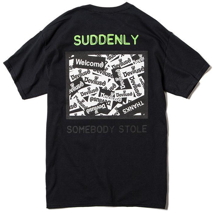 画像1: Deviluse (デビルユース) CCTV T-shirts /-BLK- (1)