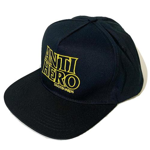 画像1: ANTIHERO(アンタイヒーロー)BLACKHERO SNAPBACK CAP / -BK/YELL- (1)