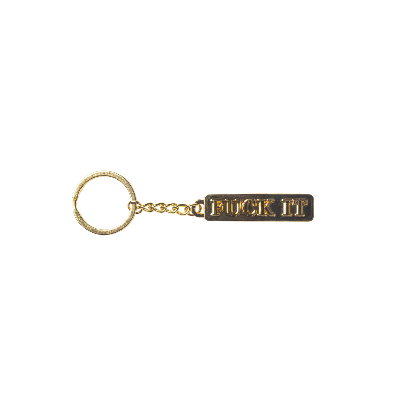 画像1: HUF(ハフ)FUCK IT KEYCHAIN / -GOLD- (1)