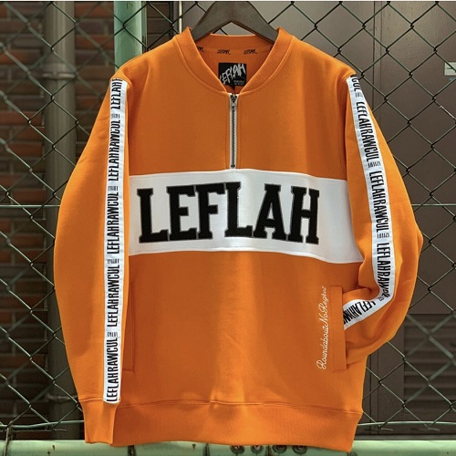 画像1: LEFLAH(レフラー)ZIP HENRY SWEAT/ORG (1)