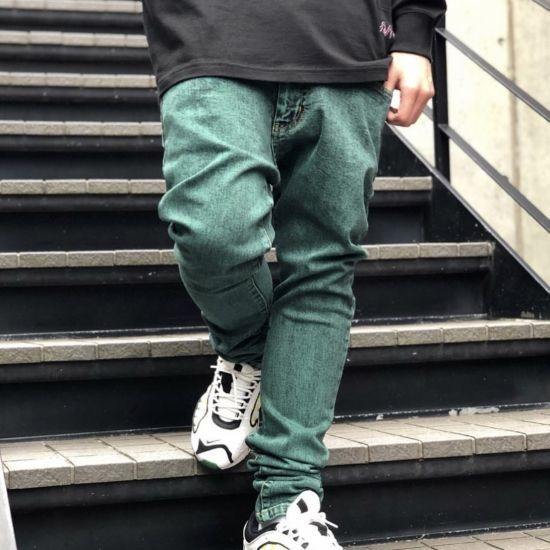 画像1: LEFLAH(レフラー) COLOR CHEMICAL SKINNY DENIM-BLK- (1)
