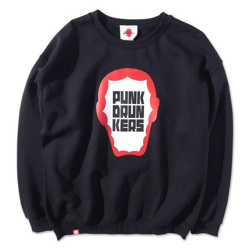画像1: PUNK DRUNKERS(パンクドランカーズ)あいつの中にロゴトレーナー /-BLK- (1)