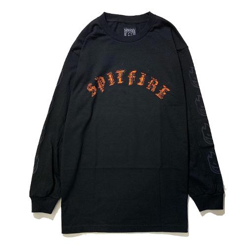 画像1: SPITFIRE (スピットファイア) FLAME OLD ENGLISH LOGO L/S TEE / -BLK- (1)