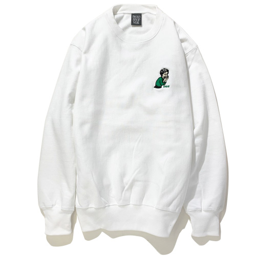 画像1: headshopvox(ヘッドショップヴォックス)Rollin'Girl HeavyWeight CrewNeck /-WHT- (1)