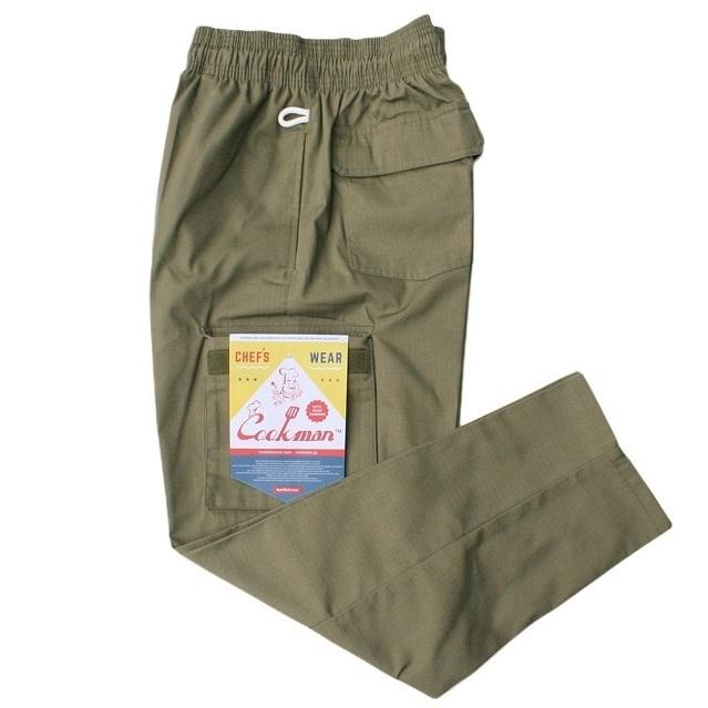 画像1: COOKMAN(クックマン)Chef Cargo Pants 「Ripstop」/-Khaki- (1)