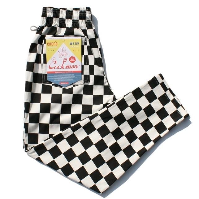 画像1: COOKMAN(クックマン)Chef Pants 「Checker」 /-BLK- (1)