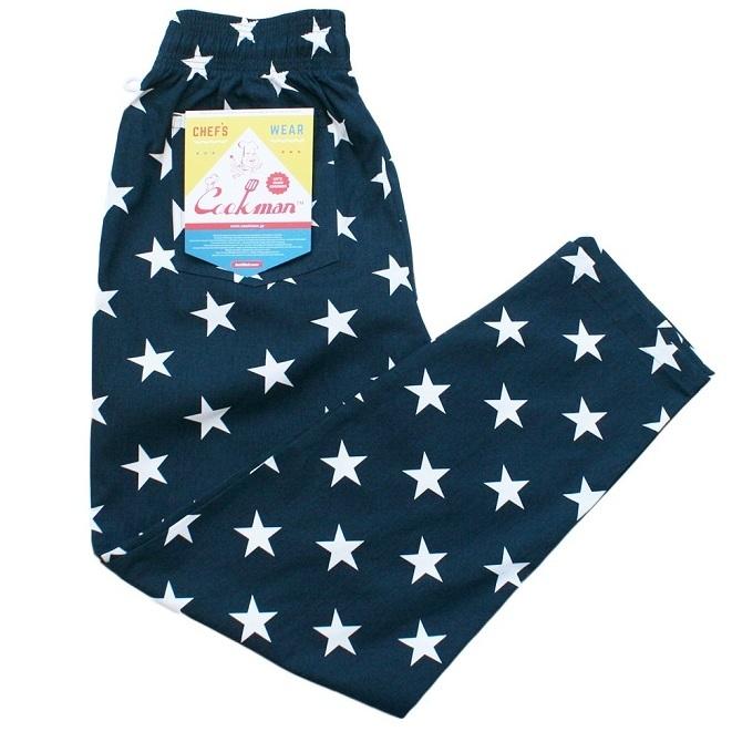 画像1: COOKMAN(クックマン) Chef Pants 「Star」 /-NVY- (1)