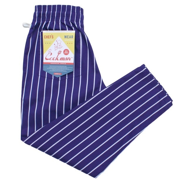 画像1: COOKMAN(クックマン)Chef Pants 「Stripe」PPL (1)