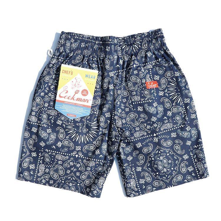 画像1: COOKMAN(クックマン)Chef Short Pants「Paisley」  /-NVY- (1)