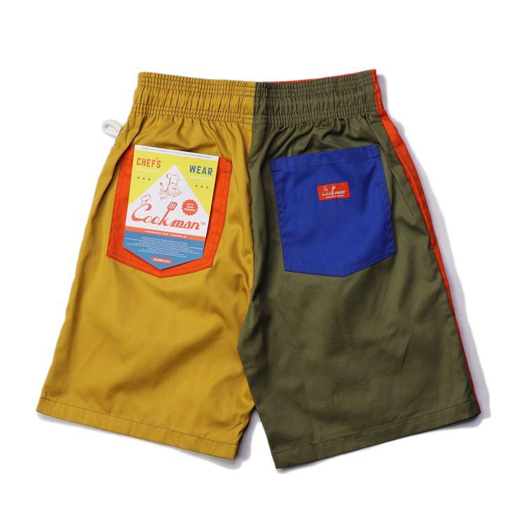 画像1: COOKMAN(クックマン) Chef Pants Short Crazy Pattern /-PARTY- (1)