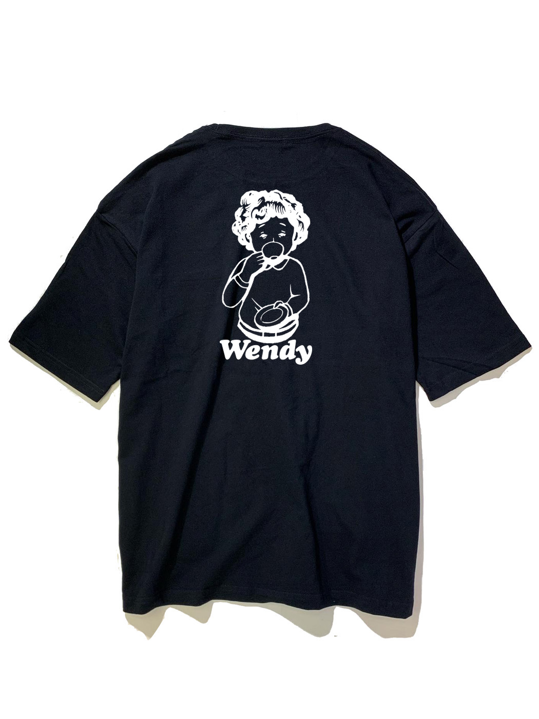 画像1: Wendy (ウェンディ) COFFEE GIRL BIG S/S POCKET TEE / -BLK- (1)